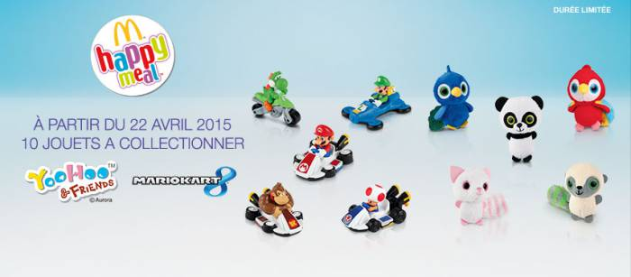 10 jouets Mario Kart et YooHoo & Fiends à collectionner dans le Happy Meal de McDonald's