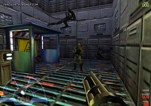 Vue Marine dans le jeu Aliens Vs Predator