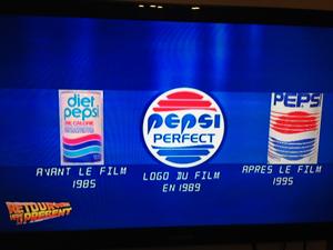 Logo Pepsi retour vers le futur 2