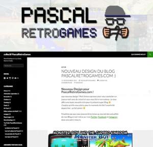 nouveau design PascalRetroGames.com !