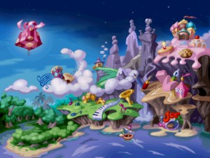 rayman playstation WorldMap