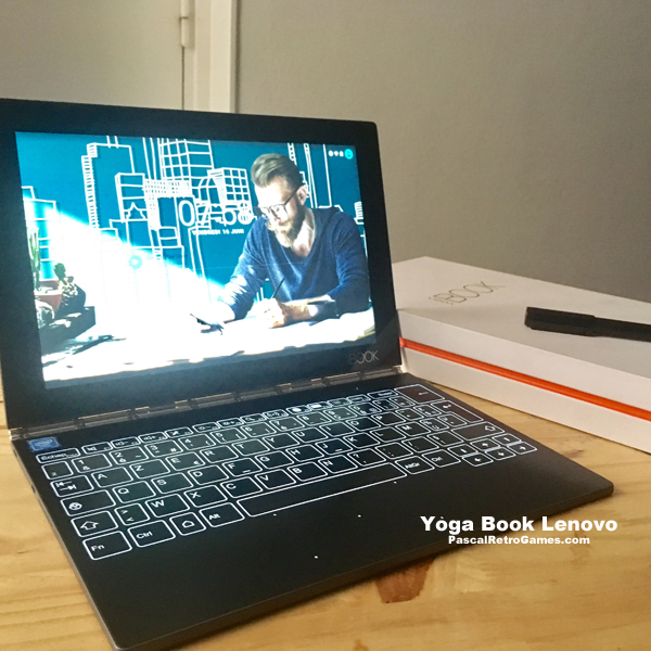 yoga book : clavier lumineux