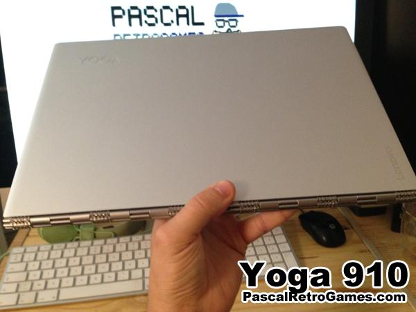 Le Yoga 910 a une charnière de très bonne qualitée