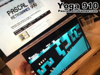 Le Yoga 910 en mode plié, pratique comme une tabette