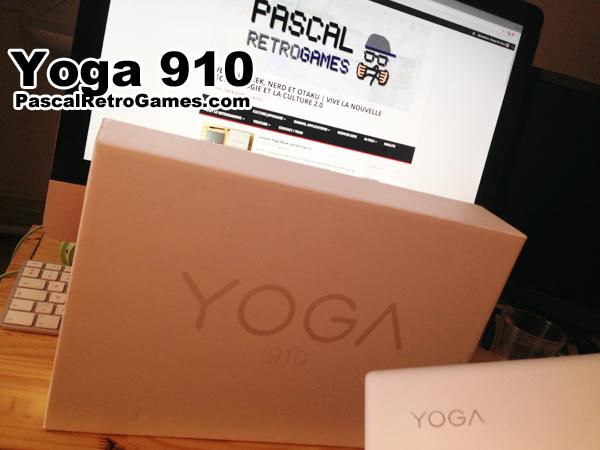 Le Yoga910 dans en boite, style similaire à Apple
