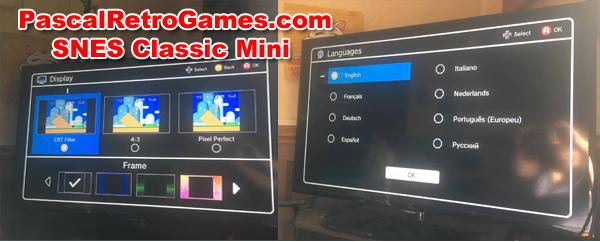 SNES Classic Mini écran menu
