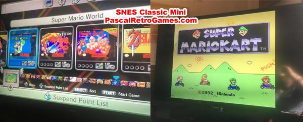 ecran SNES Classic Mini