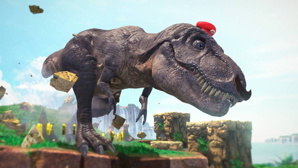 mario odyssey dinosaure