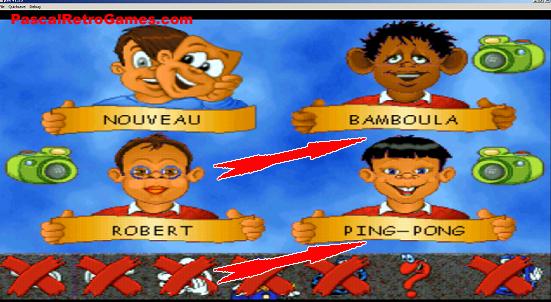 Ecran de selection du jeu Adibou, trouvez vous cela raciste ?
