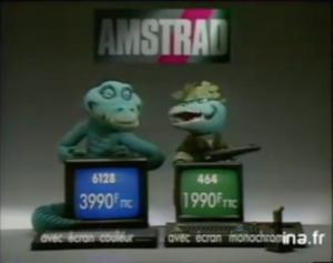 Micro Amstrad pub ordinateur